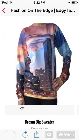 shirt cityscape sunset sweatshirt