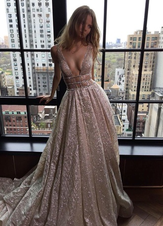 dress sparkle gown prom dress silver dress