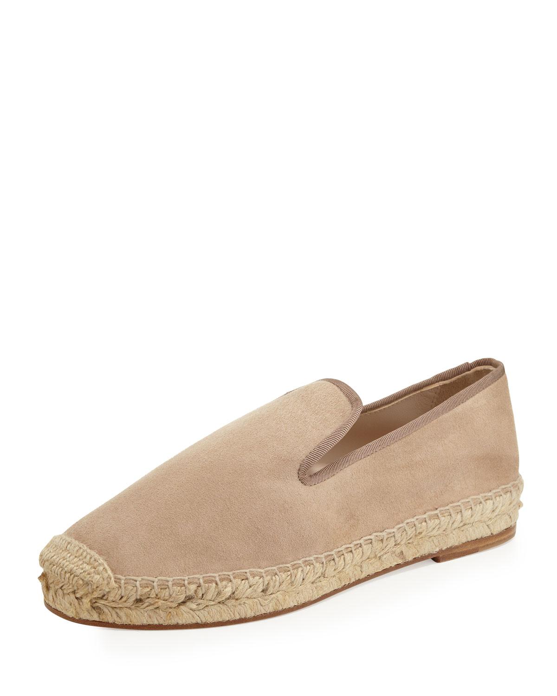 Dee suede espadrille loafer, beige