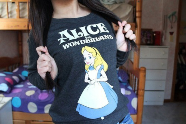 sweater alice in wonderland disney sweater disney shirt