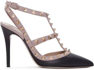 heels black pink shoes