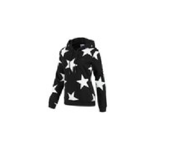 white black string jacket star parkbom jeremyscott hood coat nozipper hoodie
