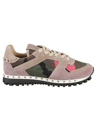 sneakers pink green army green shoes