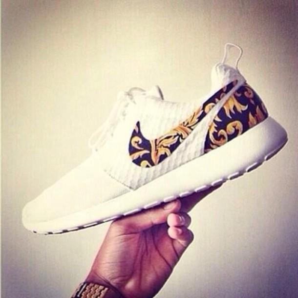 nike nike sneakers black gold white nike