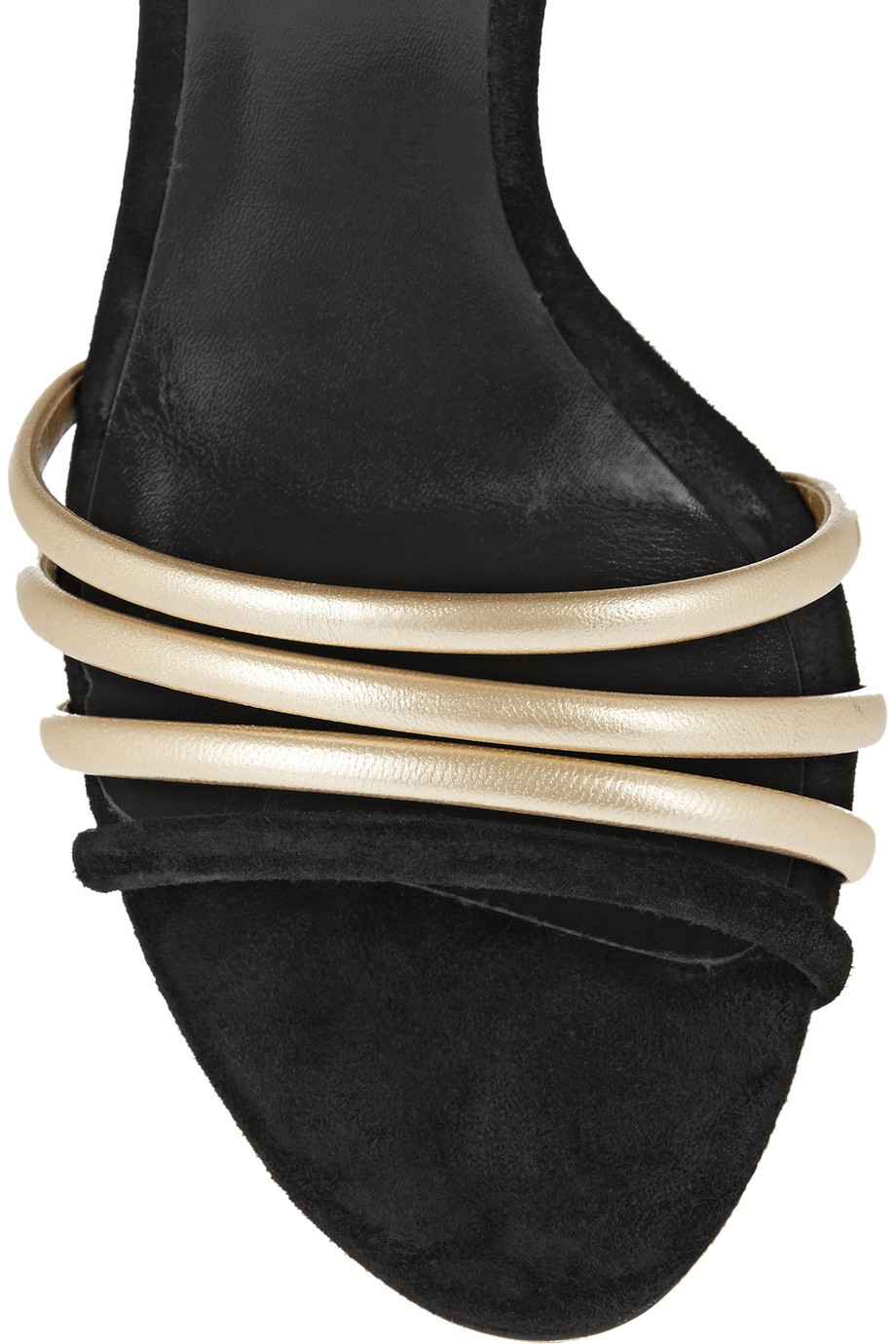 Casadei Suede and metallic leather sandals – 60% at THE OUTNET.COM