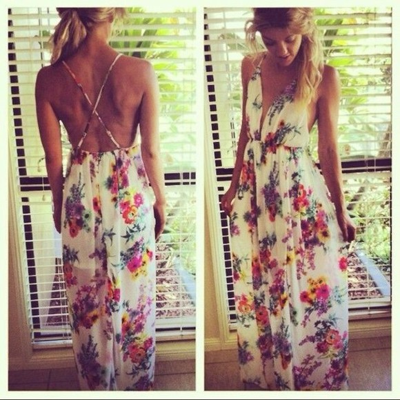dress floral flowers summer dress summer floral dress cute cute dress fashion summer outfits maxi dress flowered flowered dress style