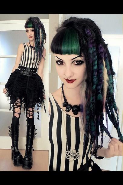 skirt black goth alternative kawaii