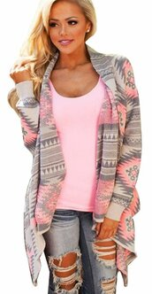 top,pink,grey,casual,urban,streetwear,streetstyle,cute,lovely,aztec,tribal pattern,gray and pink,knitwear,cardigan,knitted cardigan,knitted sweater,grey sweater,oversized sweater,oversized,winted,fall outfits,geometric,geometric printed,stripes,pattern,sexy,sexy winter,sexy winter outfit,casual top,knitted top,musthave,preppy,musthave cardigan,musthave sweater,preppy top,preppy cardigan,preppy coat,knitted coat,winted coat,open stich,thin coat,spring,streetwear top,streetstyle cardigan,urban top,moraki,blouse,coat,28719,sweater
