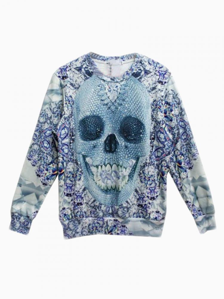 New look sweatershirt with diamond skull print