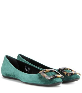 turtle suede green shoes