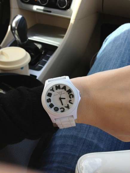 marc jacobs jewels watch black white rubber adorable black and white