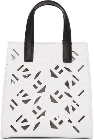 mini cut-out white bag