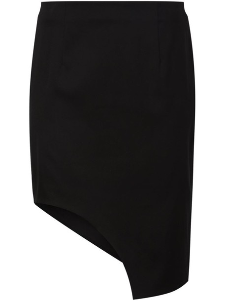 MUGLER skirt women spandex cotton black