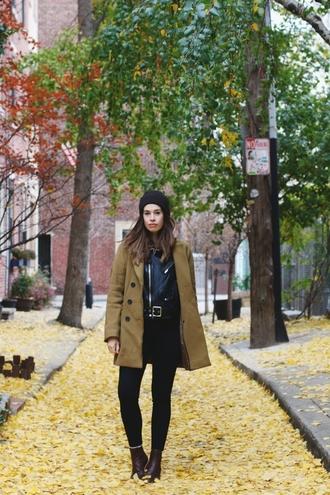 orchid grey blogger coat jacket jeans shoes sweater jewels belt
