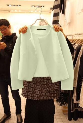 wool jacket lovely coat white jacket coat winter cold blue fur short jacket clours long sleeve crop top wool sweater wool coat