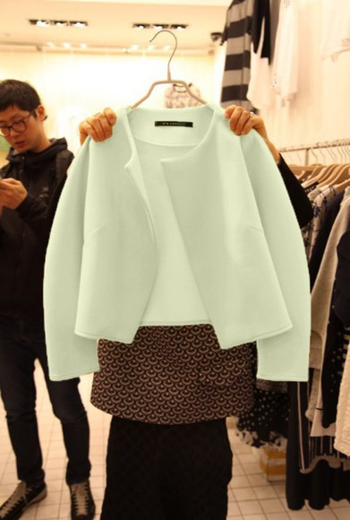 white curvy woolen jacket lovely coat jacket coat winter cold blue fur short jacket clours long sleeve crop top wool sweater woolen coat