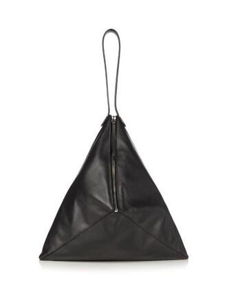 bag shoulder bag leather suede black