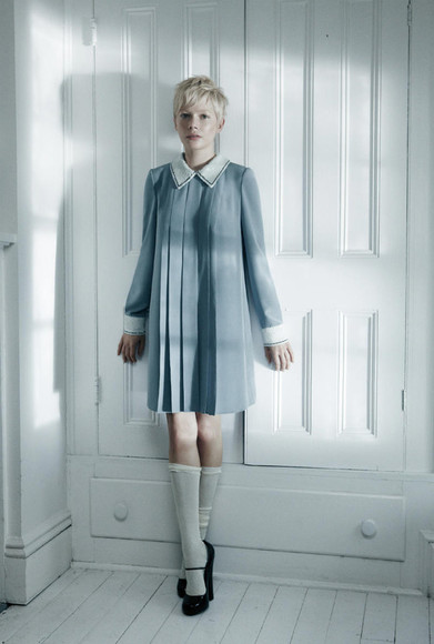 michelle williams vintage blue dress