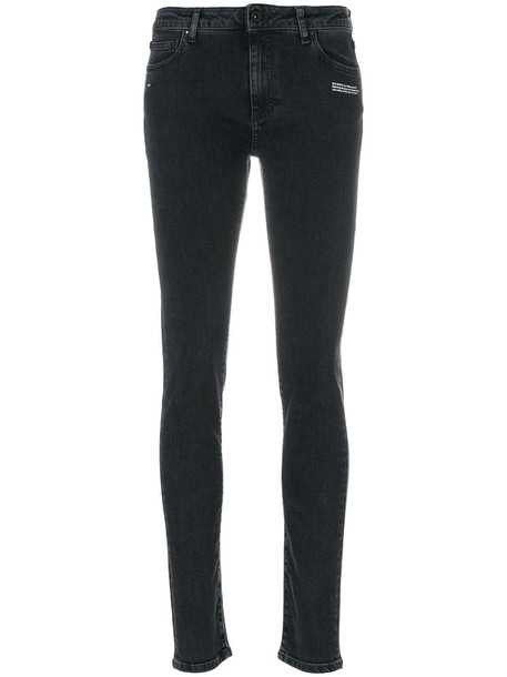 Off-White jeans skinny jeans women spandex cotton black