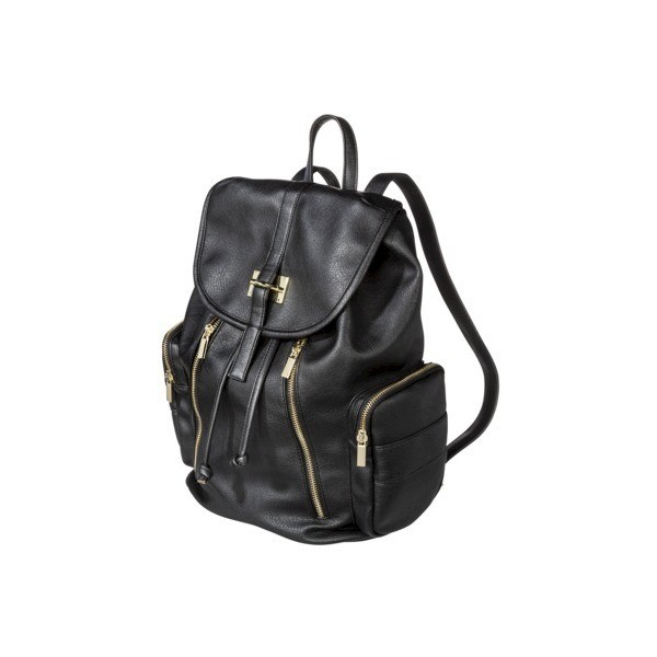 Target Limited Edition Backpack Handbag with Gold Zippers -... - Polyvore