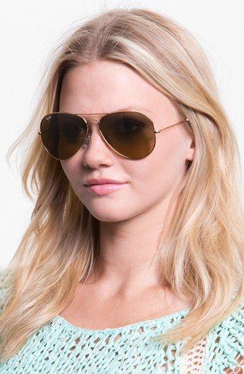 ray ban sunglasses 62mm  ray ban 'large original aviator' 62mm sunglasses