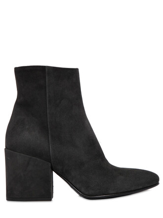 suede ankle boots boots ankle boots suede dark grey shoes