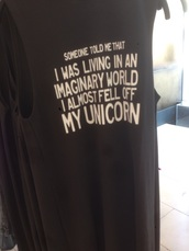 t-shirt,top,dreas,dress,shirt,yes,yazz,plz,unicorn,mermaid,black,quote on it,unicorn shirt,funny quote shirt