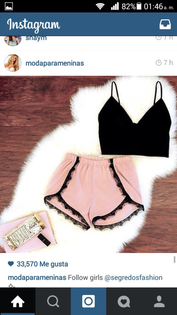 shorts black tank top instsgram girly wishlist top pants crop tops black tank top silk shoes bag lace up black crop top trendy tank top pink shorts black lace black lace shorts fashion style crop tops black top baby pink pastel pants frill dolphin shorts pink nude lace shorts sexy shorts High waisted shorts romantic girly outfits tumblr dusty pink shirt cropped low cut singlet pretty outfit summer love sexy light pink summer outfits summer outfits lace shorts pajamas lace mini shorts flowy tissus short crop tops ootd cute hot