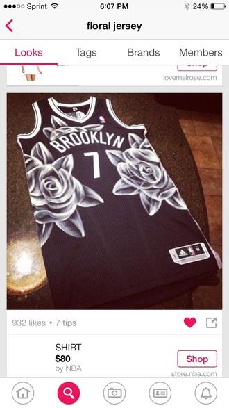 shirt baketball jersey basketball jersey brooklyn