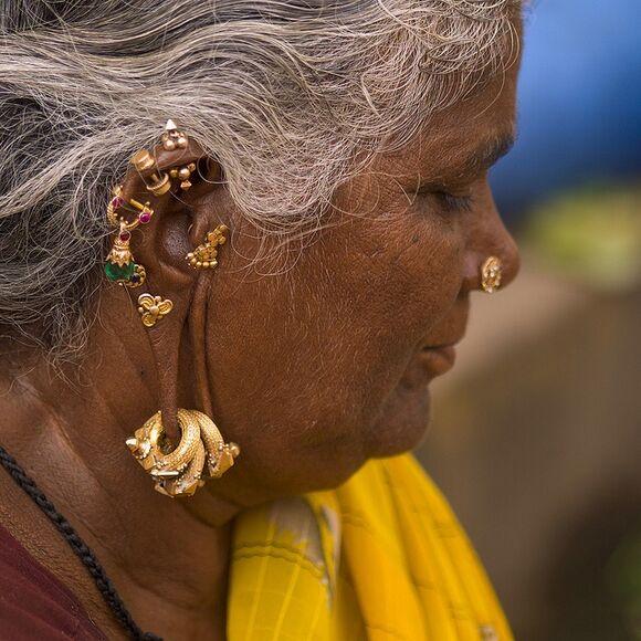 pearls jewels earrings piercings boho silver gypsy traditional elegance