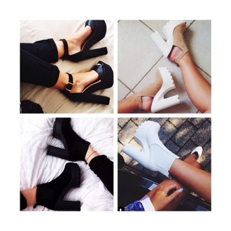 shoes in love i want high heels black white brown blouse