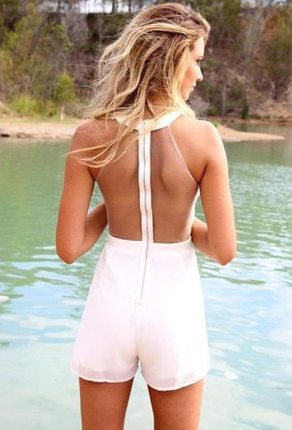 jumpsuit white summer nature cute jumpsiut women outfit gurl girly vintage hipster hippie boho bohemian style vogue chanl shorts top white dress