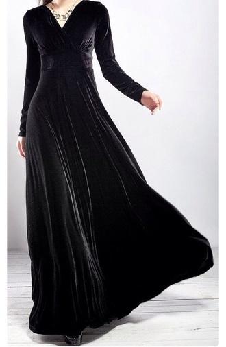 dress dark goth black velvet style grunge prom fashion velvet dress prom dress