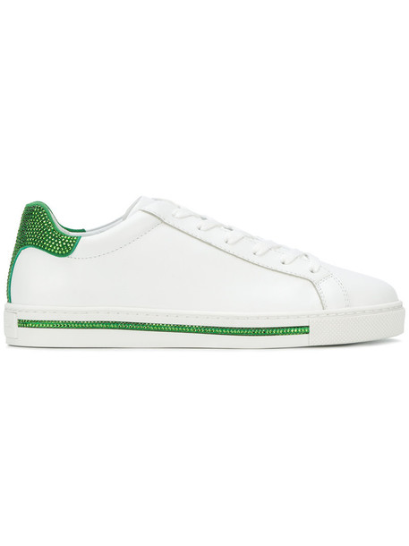 René Caovilla women embellished sneakers leather white shoes