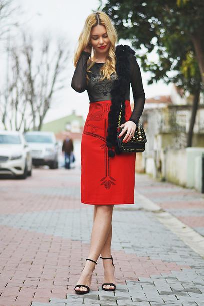 ag on i ya blogger dress midi dress shoes bag
