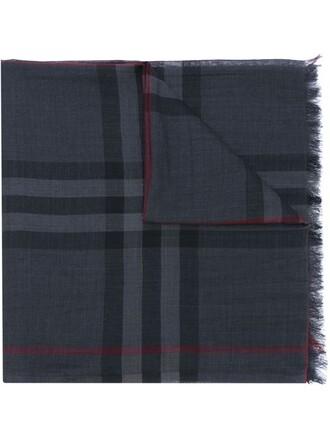 women scarf silk wool grey
