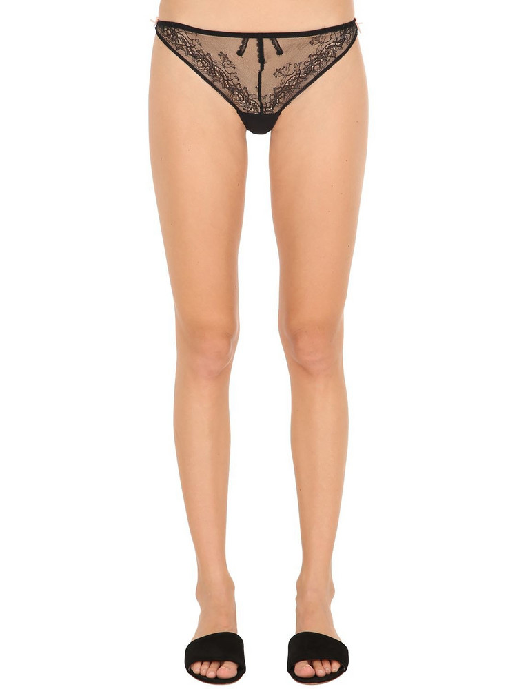 CHANTAL THOMASS Lace Tanga Briefs in black