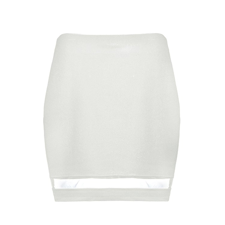 SKIRT WITH MESH INSERT HEM - Ally Fashion
