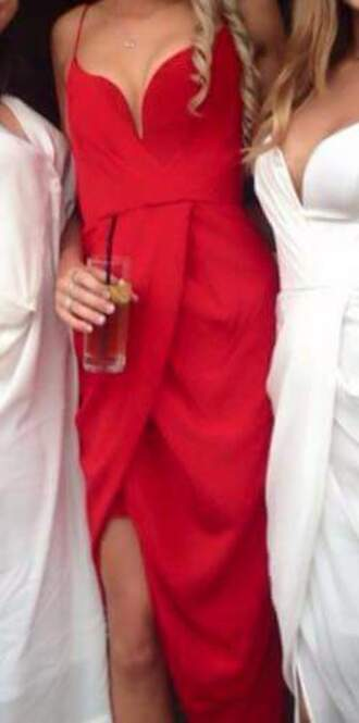 dress red dress red prom dress strapless dresses strapless asymmetrical dress prom dress formal dress