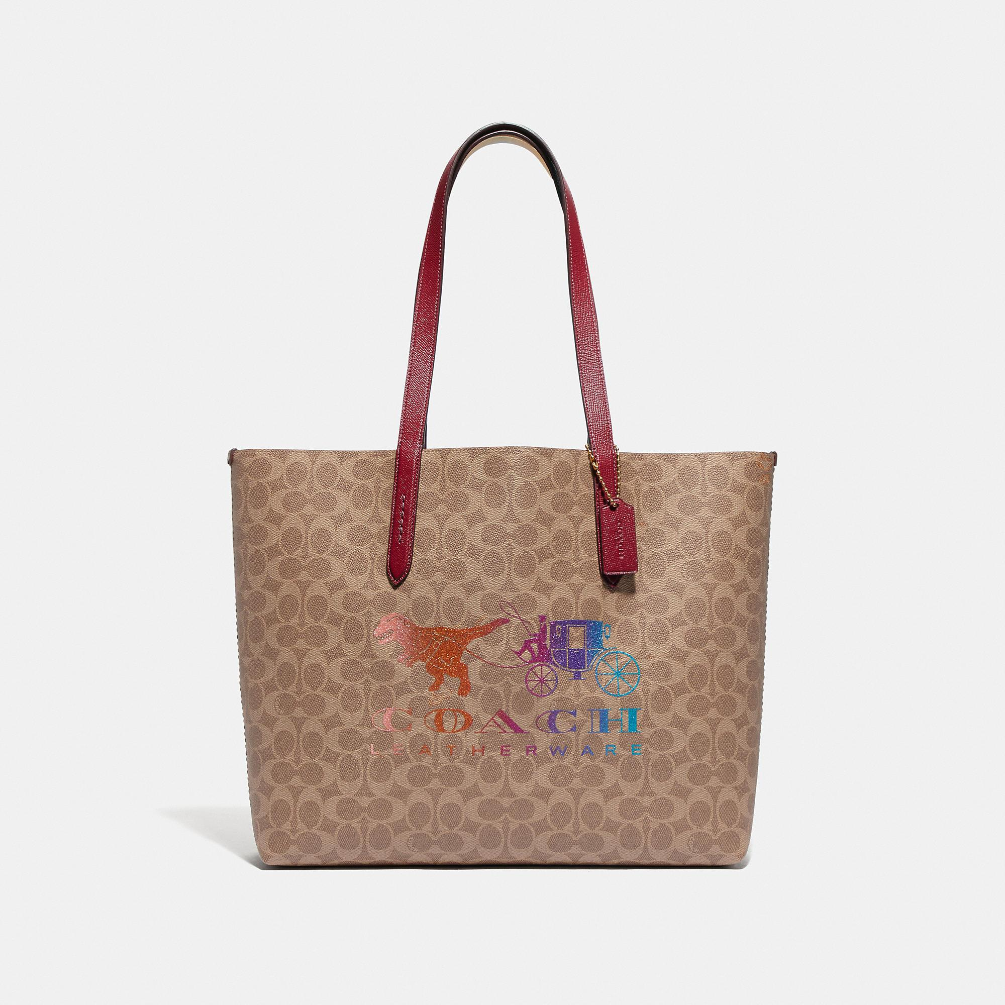 Highline Tote In Signature Canvas With Rexy And Carriage