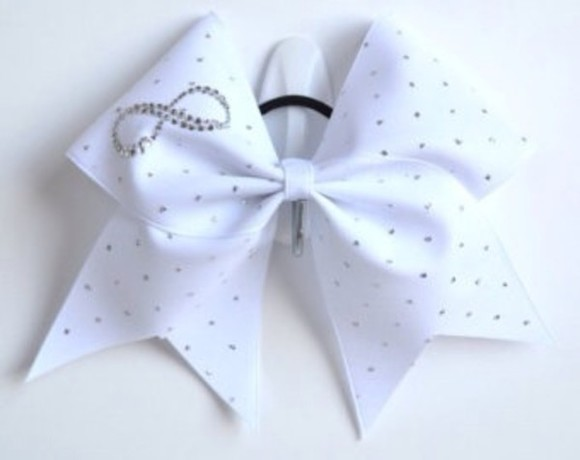 infinity jewels cheer bows cheer cheerleader white sparkles cute i want this so bad please find it