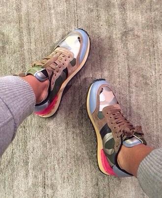light blue beige sneakers