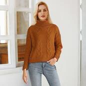 sweater,top,brown sweater