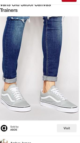 0012b8ef4ed shoes vans light grey old skool