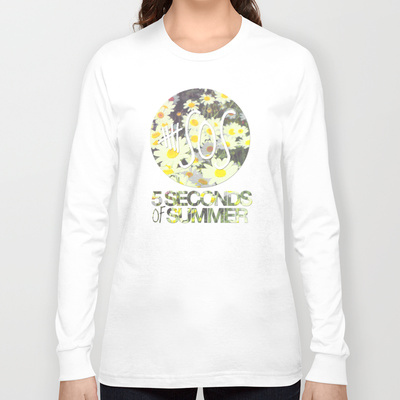 5SOS Daisies Long Sleeve T-shirt by Dan Ron Eli | Society6