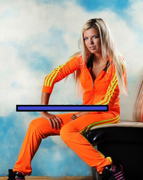 zipper zip jumpsuit 3 stripes adidas tracksuit adidas originals orange neon sportswear trendy outfit pants