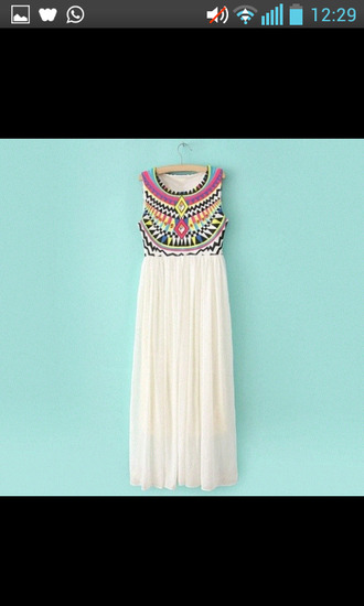 dress white dress oriental print maxi dress summer dress cute dress fashion