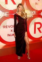 jewels,romee strijd,model,victoria's secret model,slit dress,celebrity,burgundy dress,burgundy