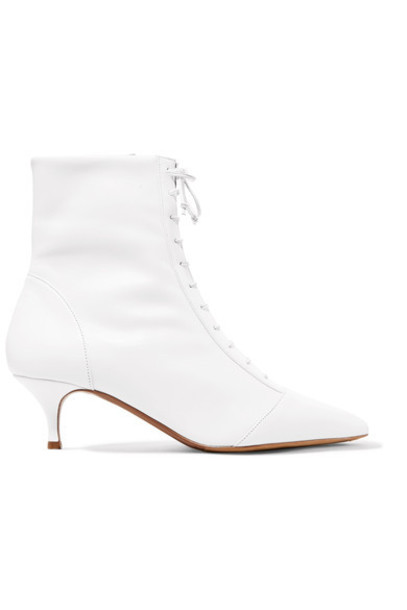 tabitha simmons leather ankle boots ankle boots lace leather white shoes