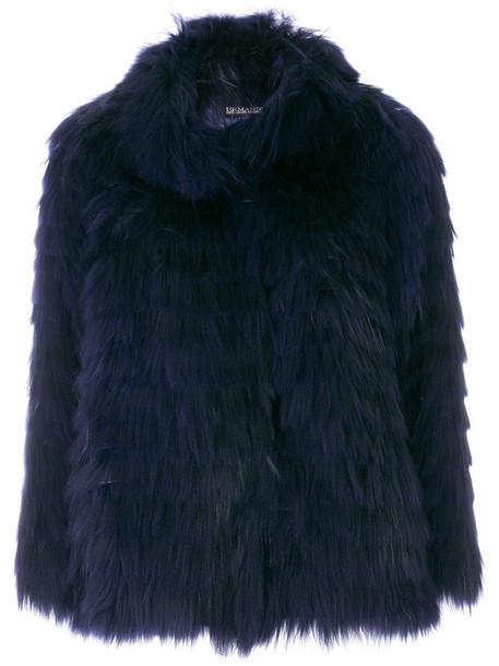 Ermanno Ermanno jacket fur jacket fur women dog blue